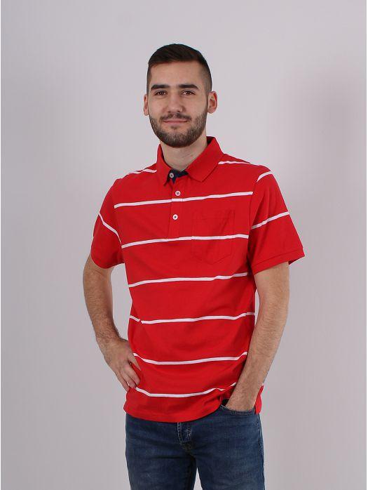 Majica Pruge crvena