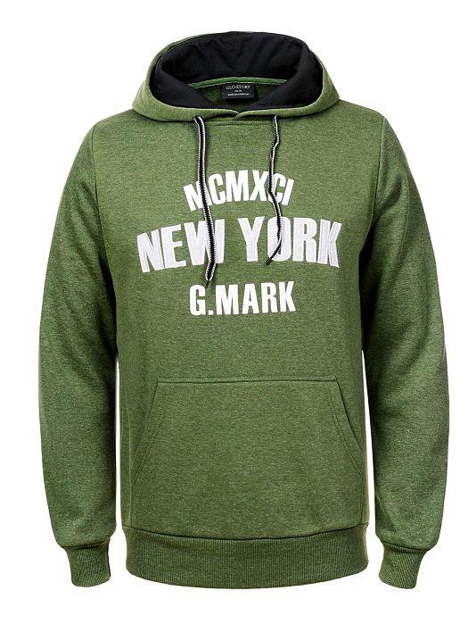 Majica s kapuljačom New York zelena
