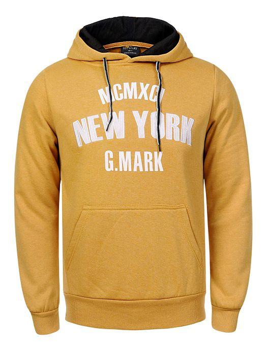 Majica s kapuljačom New York žuta