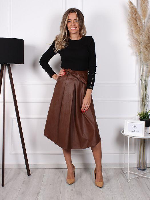 Suknja Star smeđa