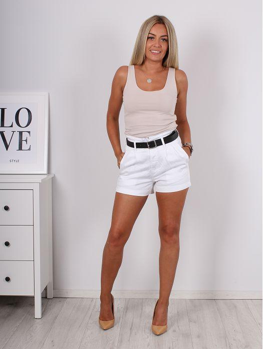 Traper hlače Tiona bijele